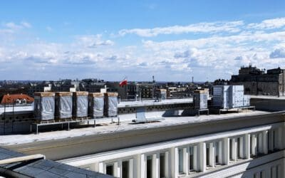 Na dachu Ministerstwa